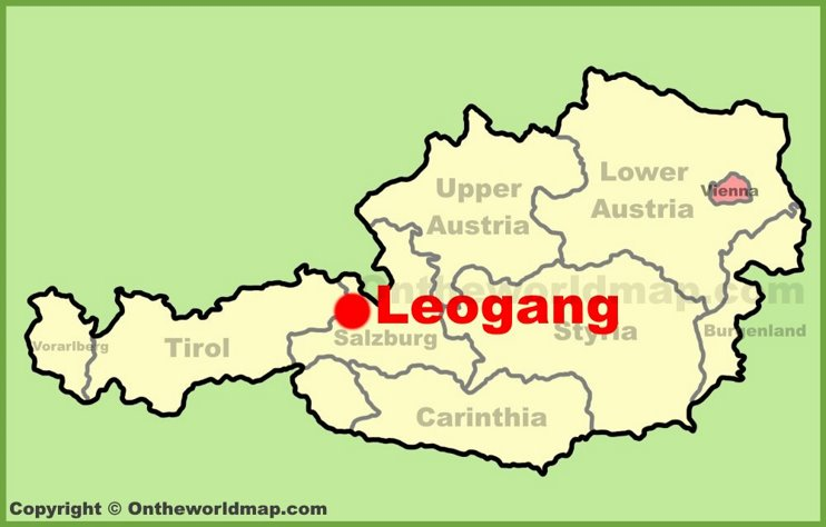 Leogang location on the Austria Map