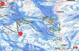 Leogang ski map