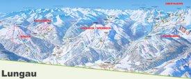 Lungau ski map