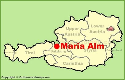 Maria Alm Location Map