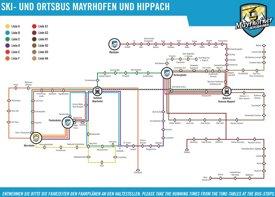 Mayrhofen bus map