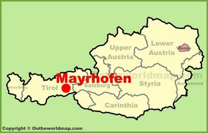 Mayrhofen Location Map