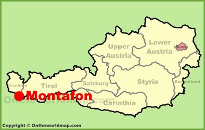Montafon Location Map