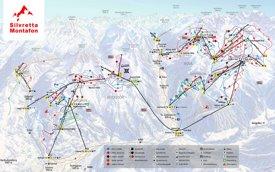 Montafon ski map