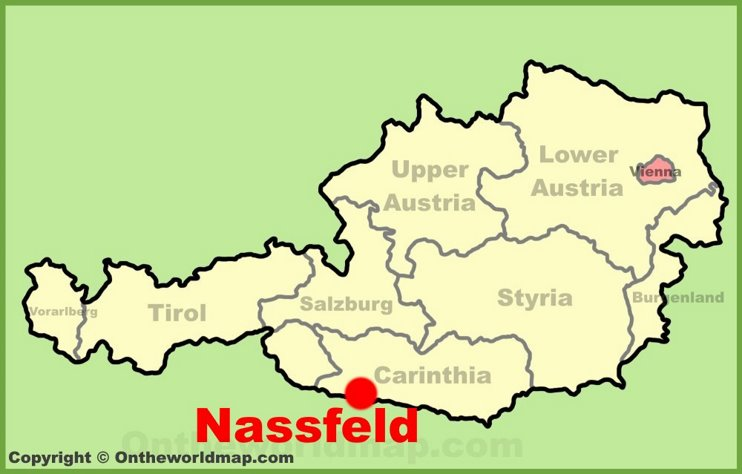 Nassfeld location on the Austria Map