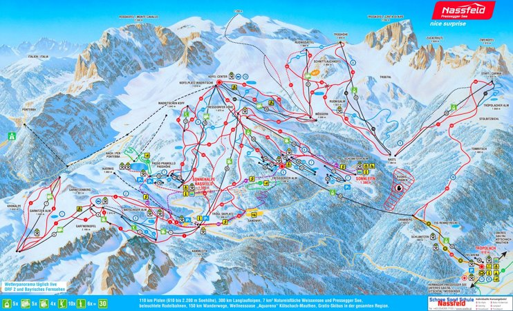 Nassfeld ski map
