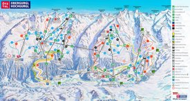 Obergurgl and Hochgurgl ski map