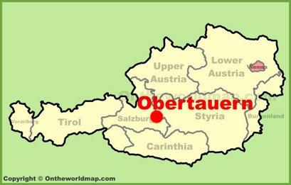 Obertauern Location Map