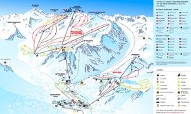 Pitztal Gletscher and Rifflsee ski map