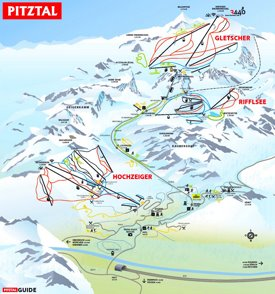 Pitztal ski map