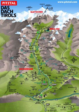 Pitztal summer map