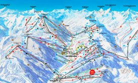 Saalbach - Hinterglemm ski map