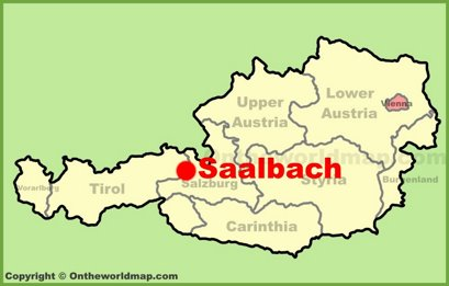 Saalbach Location Map