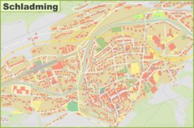 Detailed map of Schladming