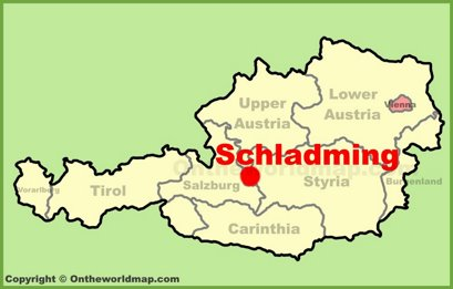 Schladming Location Map