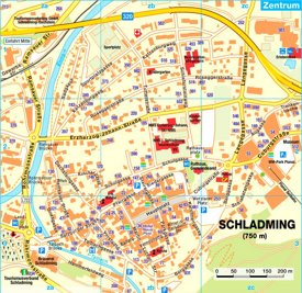 Schladming tourist map