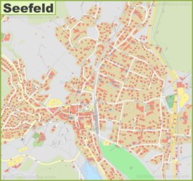 Detailed map of Seefeld