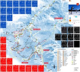 Seefeld cross country skiing map