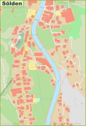 Sölden city center map
