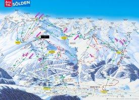 Sölden ski map