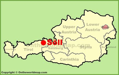 Söll Location Map