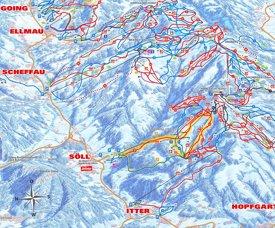 Söll ski map