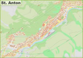 Detailed map of St. Anton