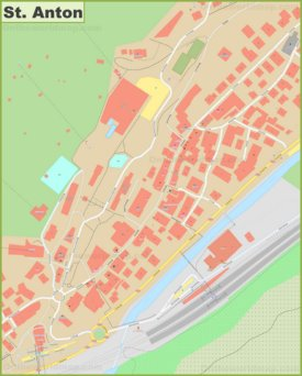 St. Anton city center map
