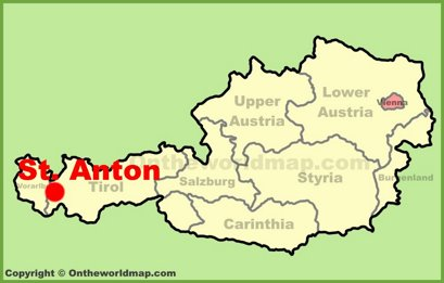 St. Anton Location Map