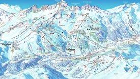 St. Anton ski map