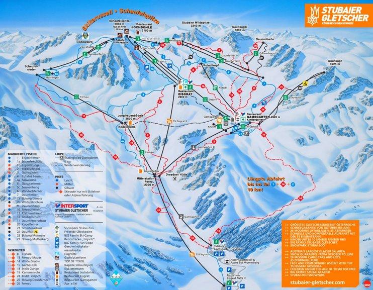 Stubai ski map