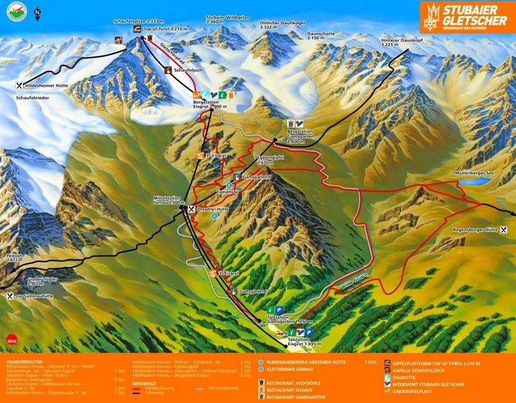 Stubai summer map
