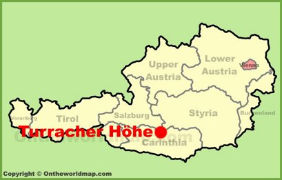 Turracher Höhe Location Map