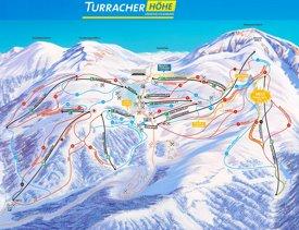 Turracher Höhe ski map