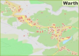 Detailed map of Warth