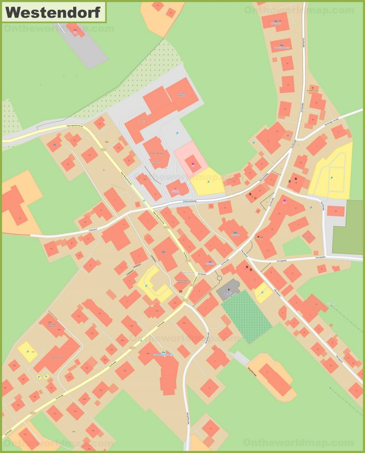 Detailed map of Westendorf