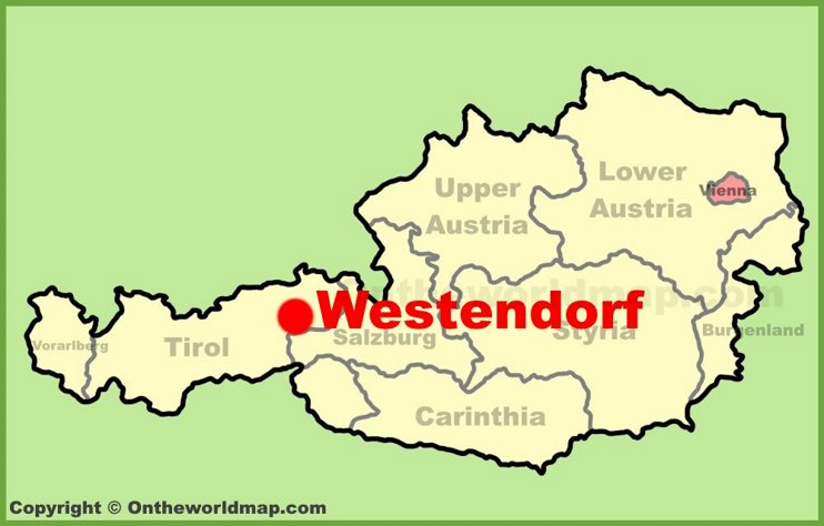 Westendorf location on the Austria Map