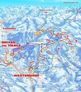 Westendorf ski map