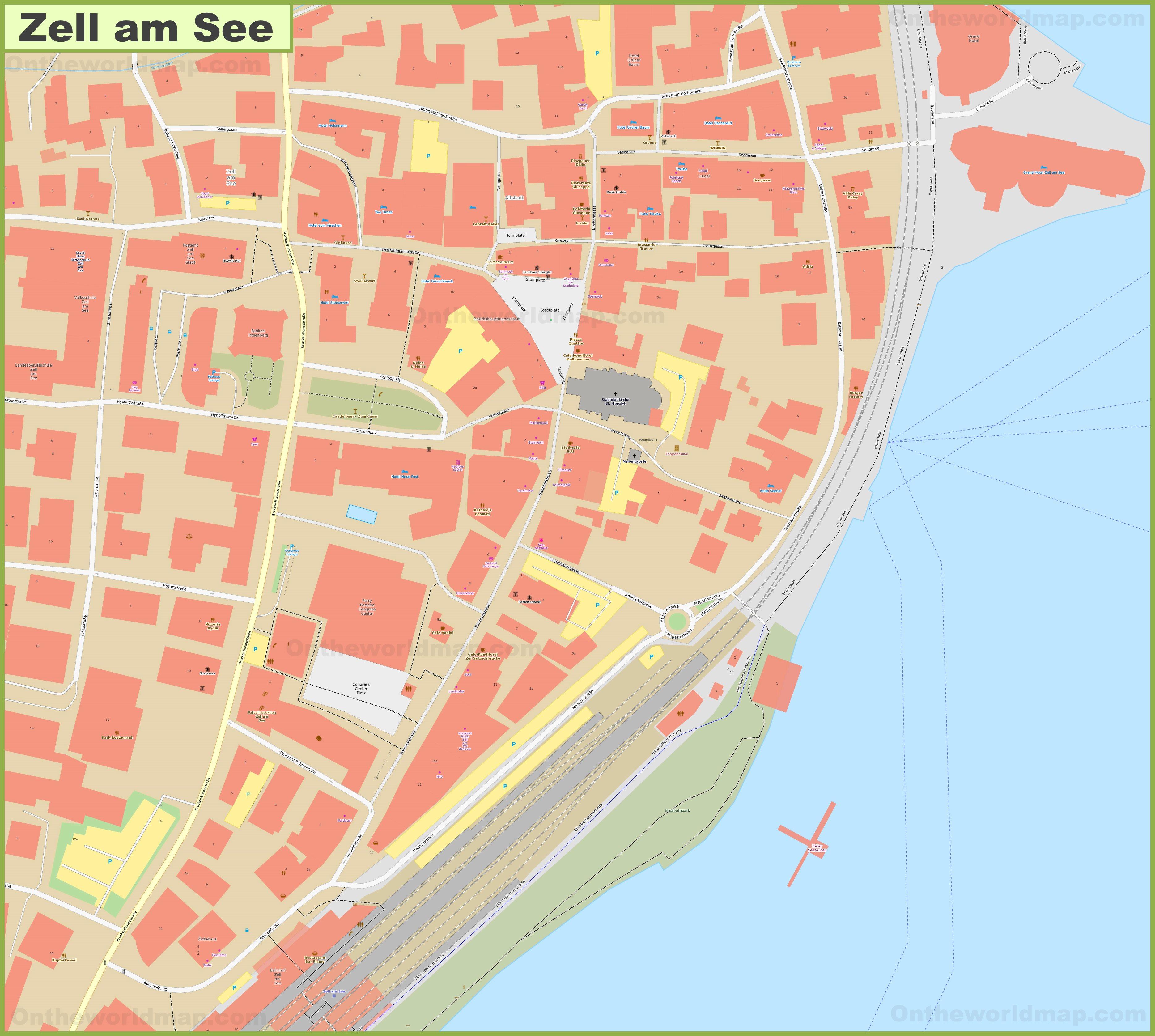 Zell am See city center map Zell Am See Austria Map on altmunster austria map, budapest austria map, zell am zee austria, tyrol austria map, igls austria map, eisenstadt austria map, new i am america map, otztal austria map, stubai austria map, munich austria map, innsbruck austria map, italy germany austria map, mariazell austria map, mauthausen austria map, vienna austria map, hopfgarten austria map, gosau austria map, berlin austria map, attersee austria map, salzkammergut austria map,