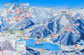 Zell am See and Kaprun ski map