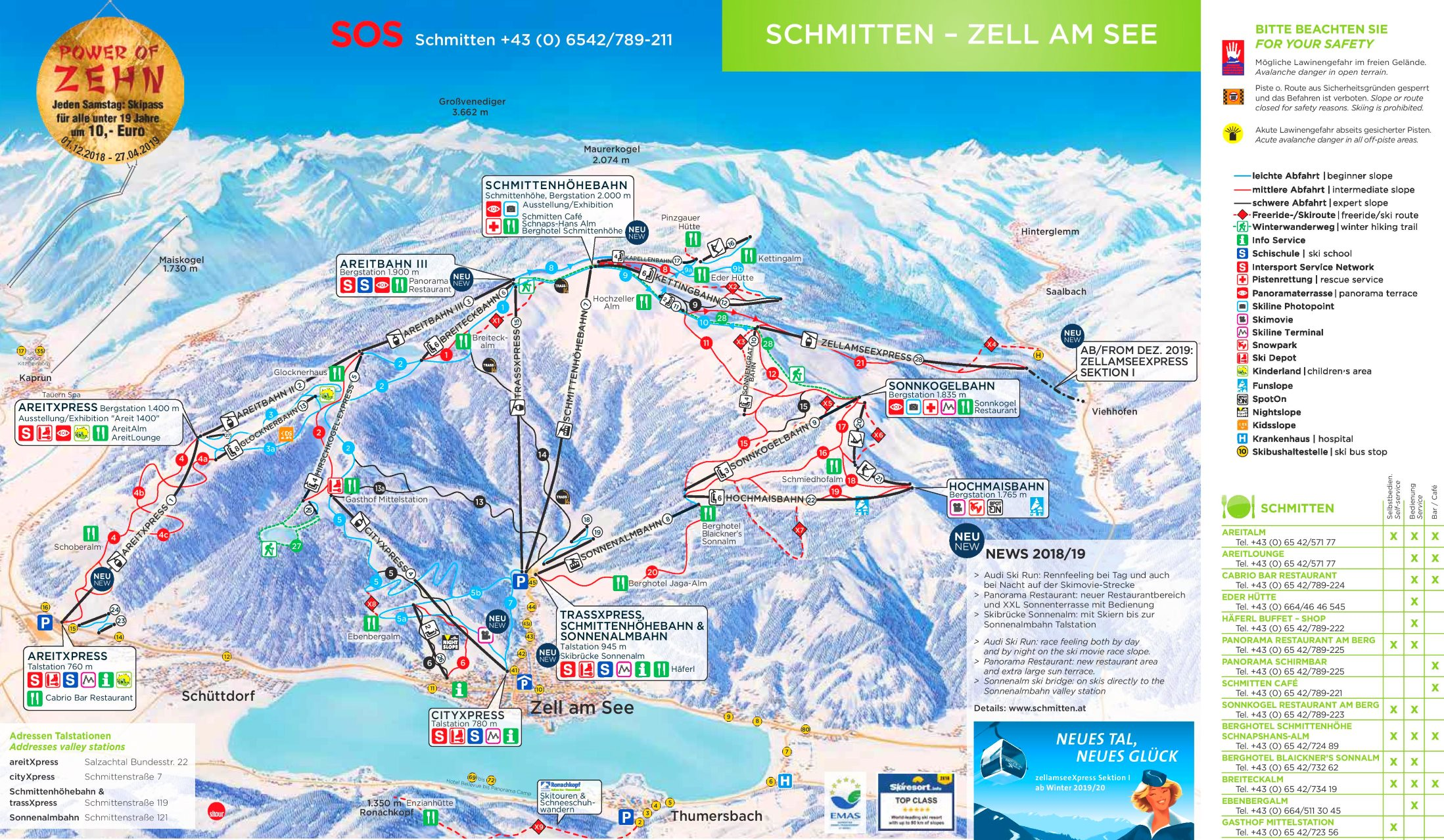 Zell Am See Ski Map