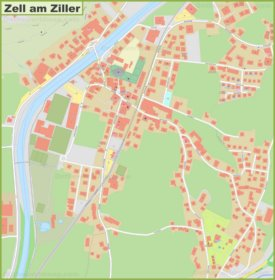 Detailed map of Zell am Ziller