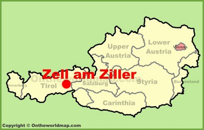 Zell am Ziller Location Map