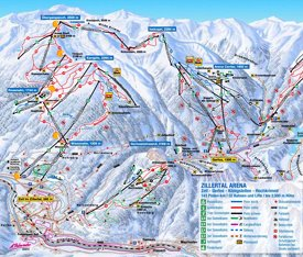Zell am Ziller ski map