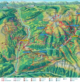 Zell am Ziller summer map
