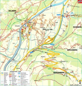 Zell am Ziller tourist map