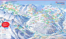 Zillertal 3000 ski map