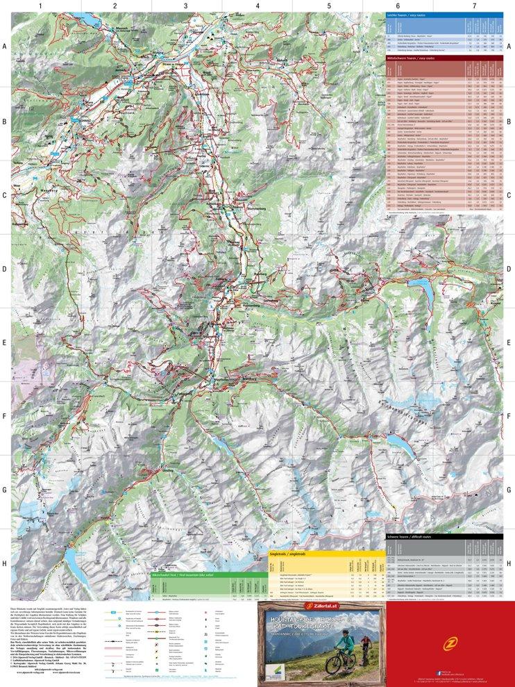 Zillertal bike map