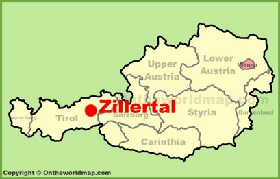 Zillertal Location Map