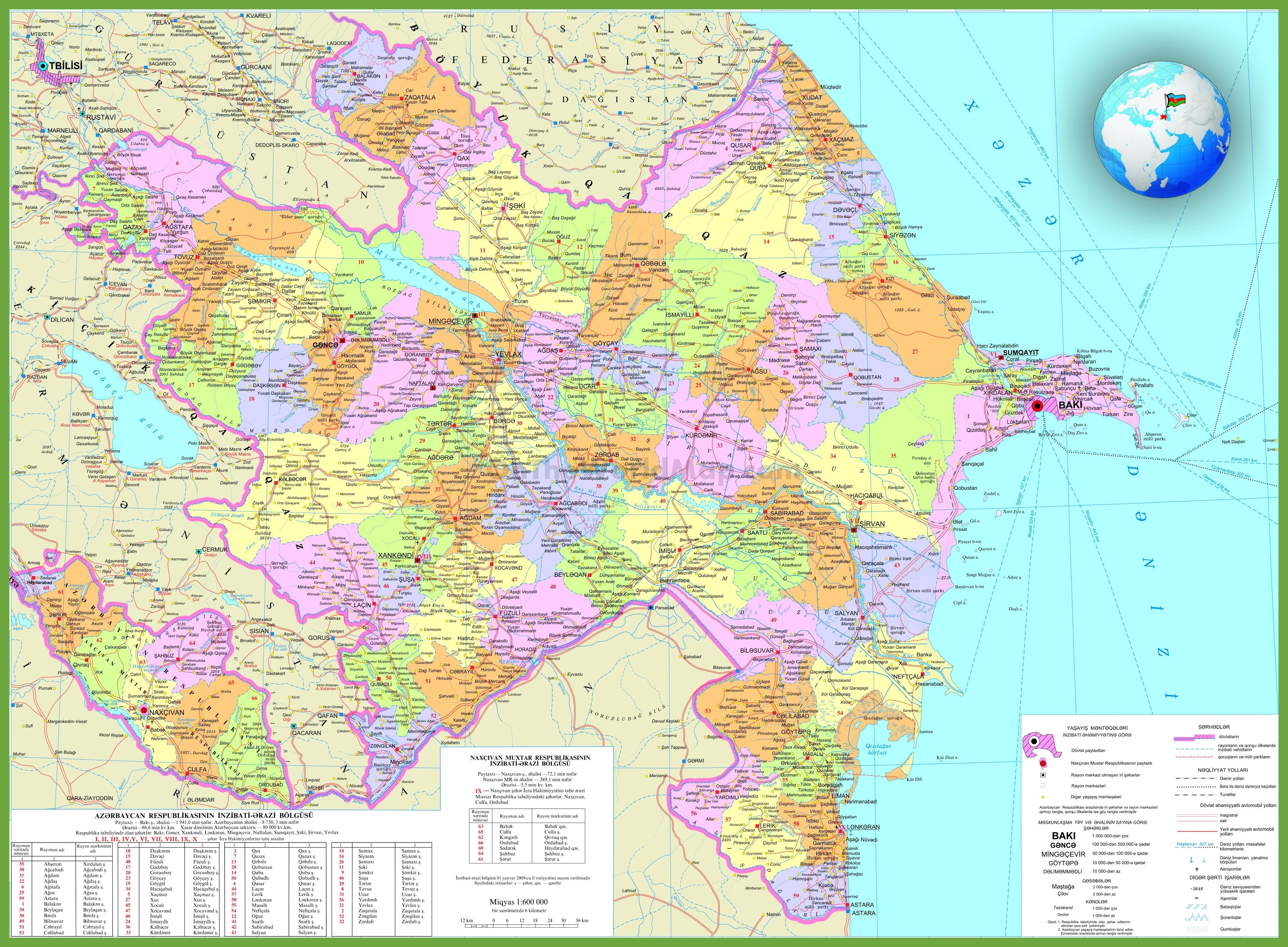 Azerbaijan Maps Maps of Azerbaijan